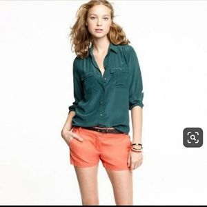 J. Crew Broken in Chino Shorts Coral size 8